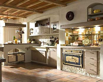 Come arredare una cucina country for Una grande cucina